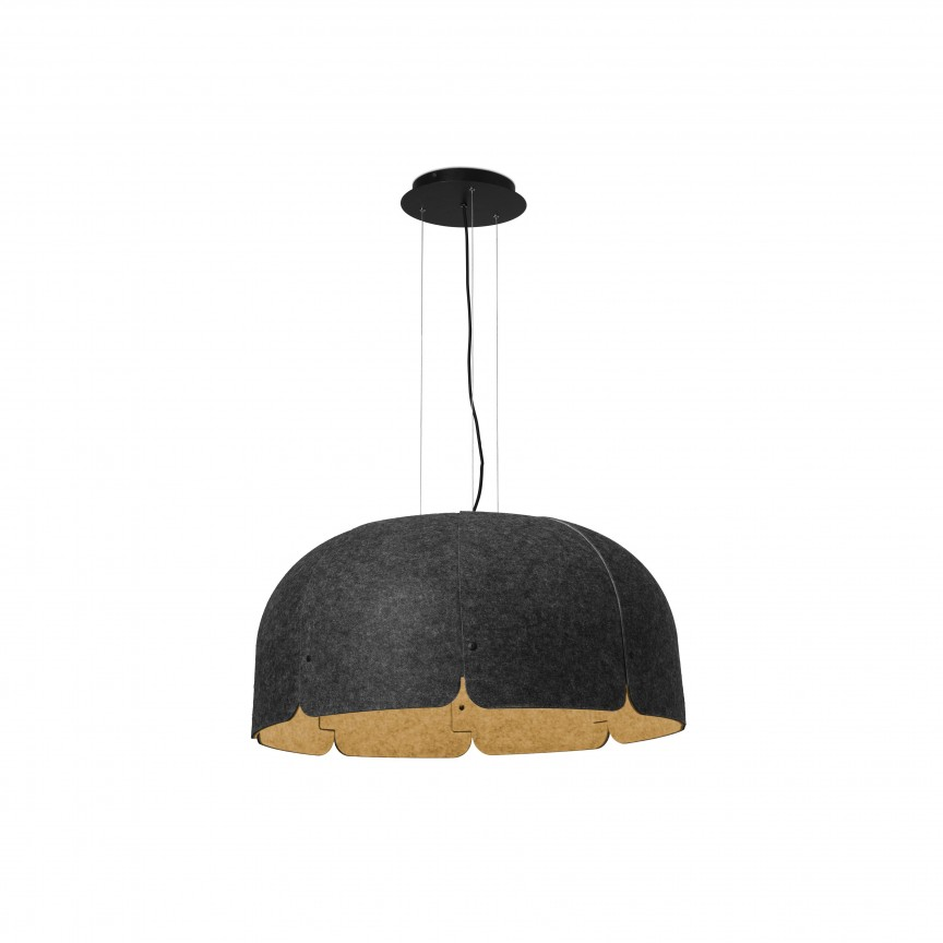 Lustra LED moderna design eco Ø80cm MUTE 3000K gri inchis / maro, Candelabre, Lustre moderne,  a