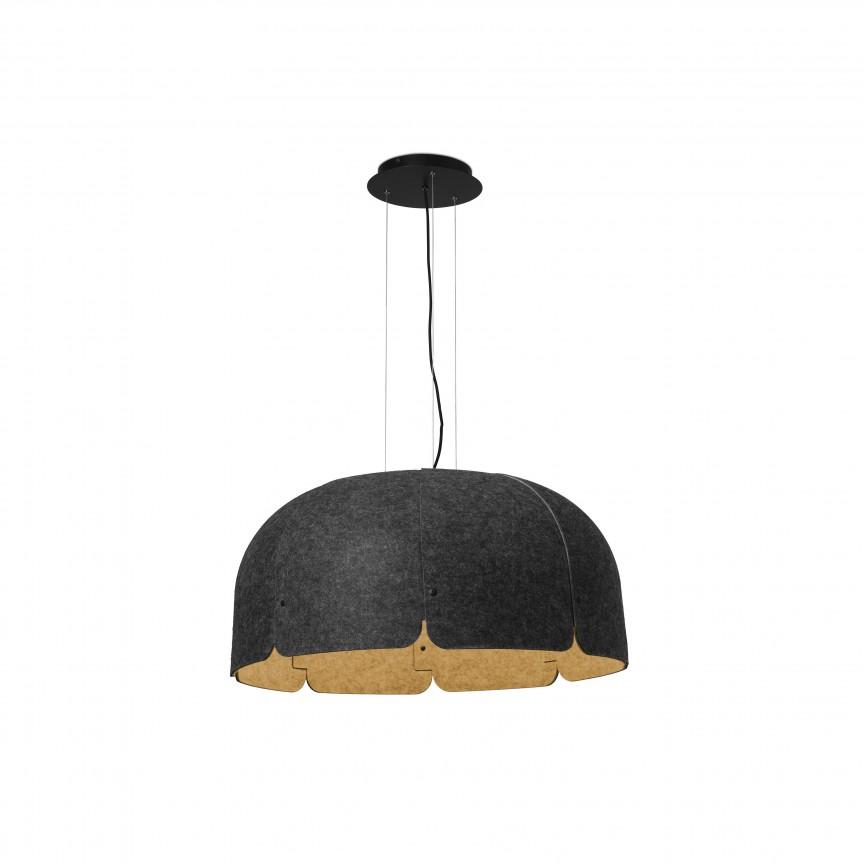 Lustra LED dimabila moderna design eco Ø80cm MUTE 4000K gri inchis / maro, Lustre LED, Pendule LED,  a