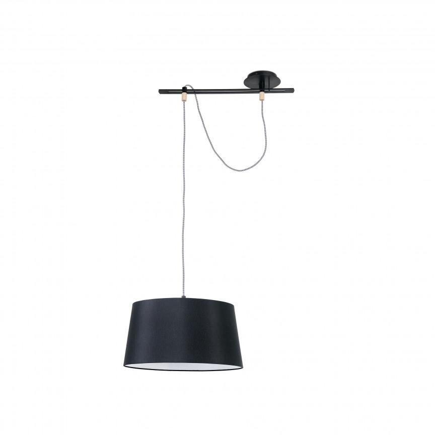 Lustra / Pendul modern design elegant FUSTA negru, Pendule, Lustre suspendate,  a