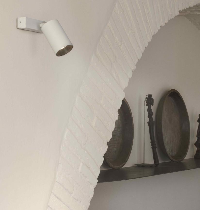 Aplica perete / tavan cu spot directionabil design modern STAN 1L alba, Aplice de perete moderne,  a