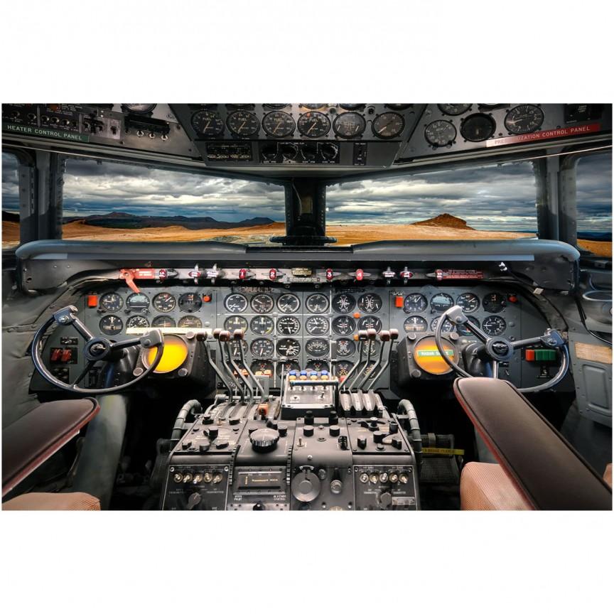 Tablou decorativ, imagine imprimata pe sticla calita Airplane Cockpit 120x80cm, Tablouri decorative,  a