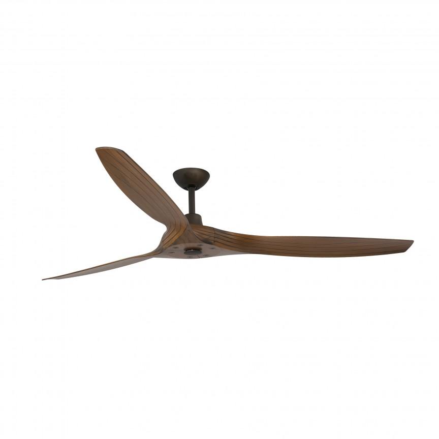 Ventilator de tavan cu telecomanda design modern MOREA maro/ lemn nuc, Cele mai noi produse 2020 a