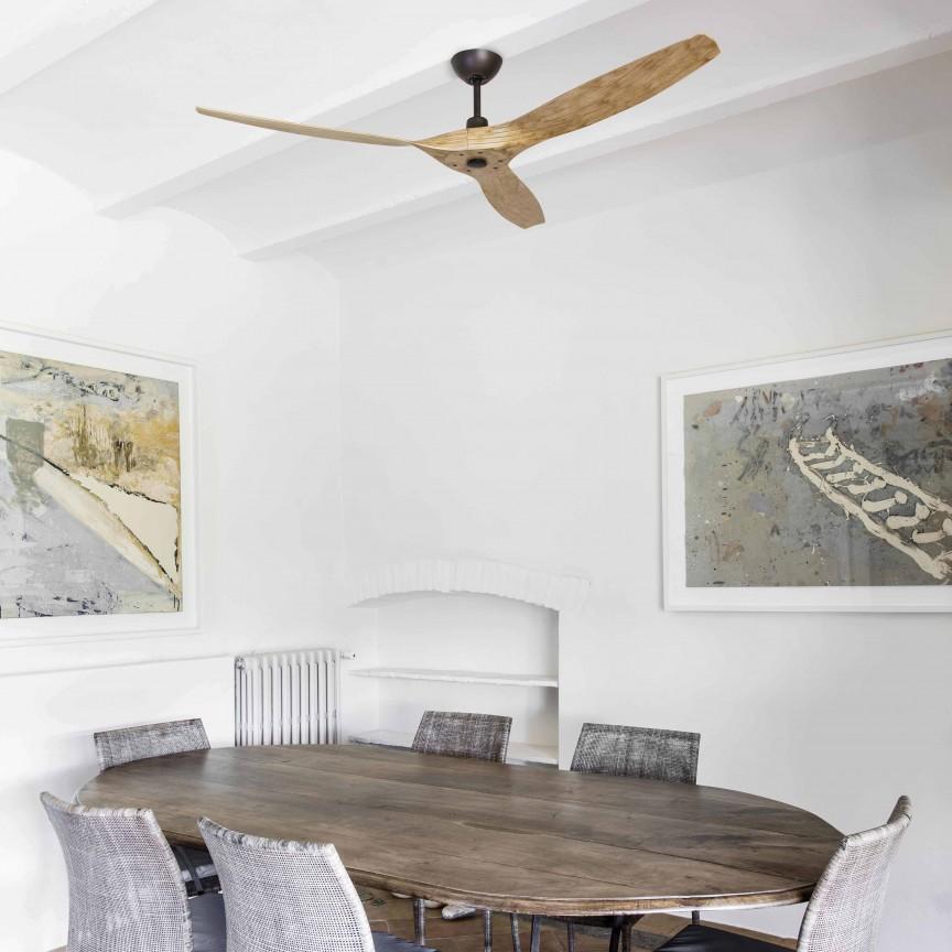 Ventilator de tavan cu telecomanda design modern MOREA maro/ lemn pin , Cele mai noi produse 2020 a