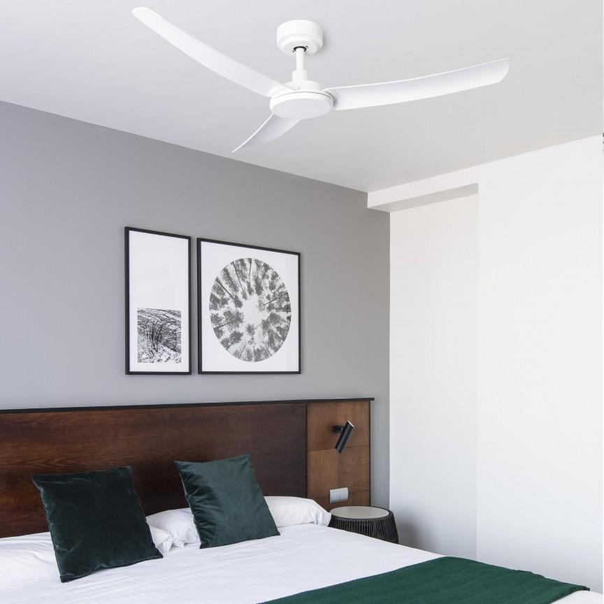 Ventilator de tavan cu telecomanda design modern SIROS alb, Cele mai noi produse 2020 a
