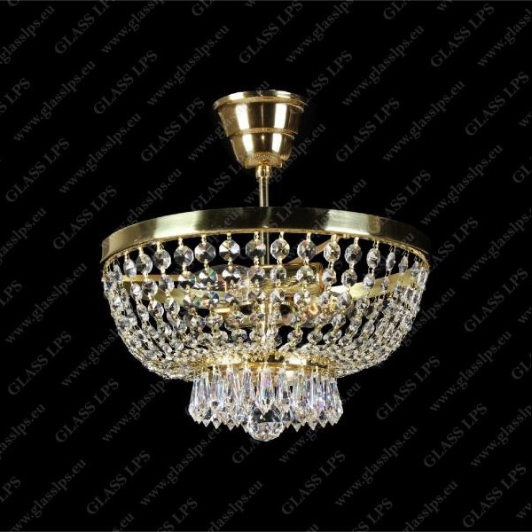 Lustra aplicata, Plafoniera cristal Bohemia 30cm L15 167/02/3, Plafoniere Cristal Bohemia,  a