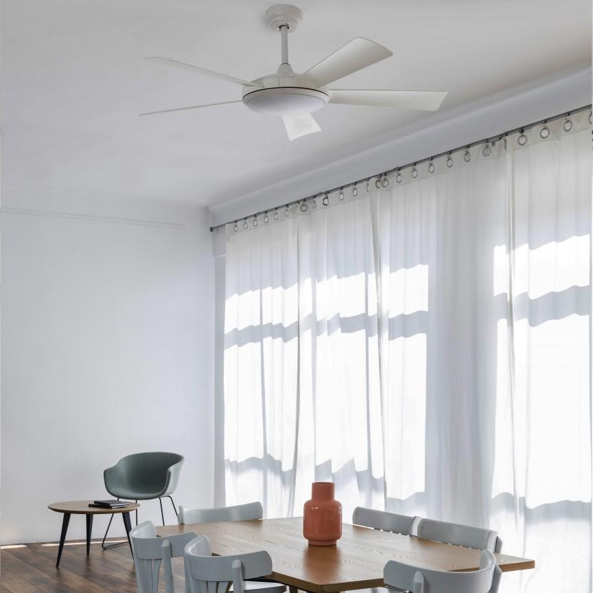 Lustra LED cu Ventilator si telecomanda design modern SAONA alb, Cele mai noi produse 2020 a