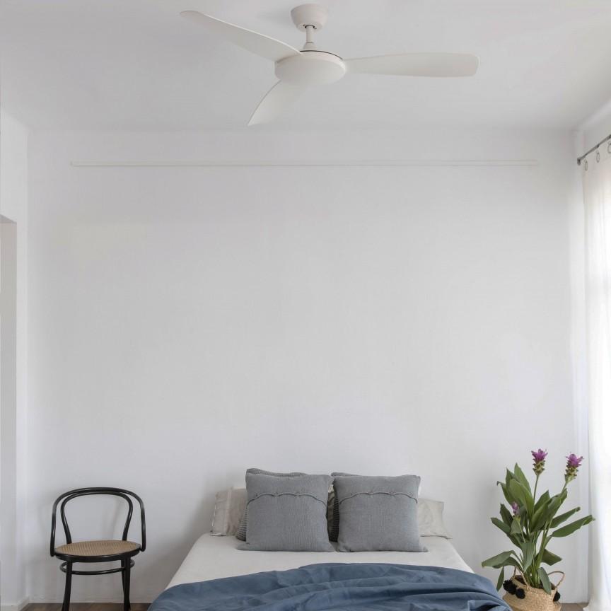 Ventilator de tavan cu telecomanda design modern ISLOT alb, Cele mai noi produse 2020 a