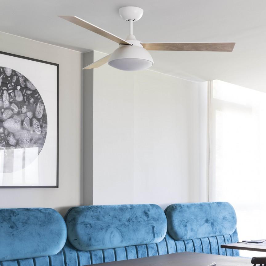 Lustra LED cu Ventilator si telecomanda design modern RODAS alb, Cele mai noi produse 2020 a