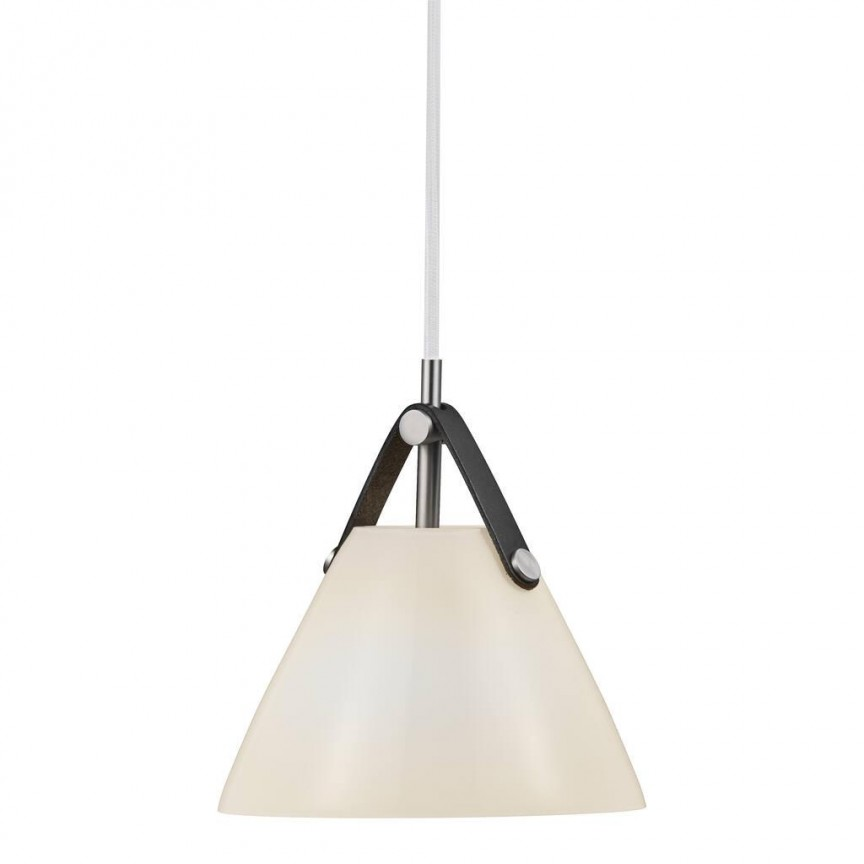 Pendul design nordic STRAP 16 sticla alba 2020013001 DFTP, ILUMINAT INTERIOR LED ,  a