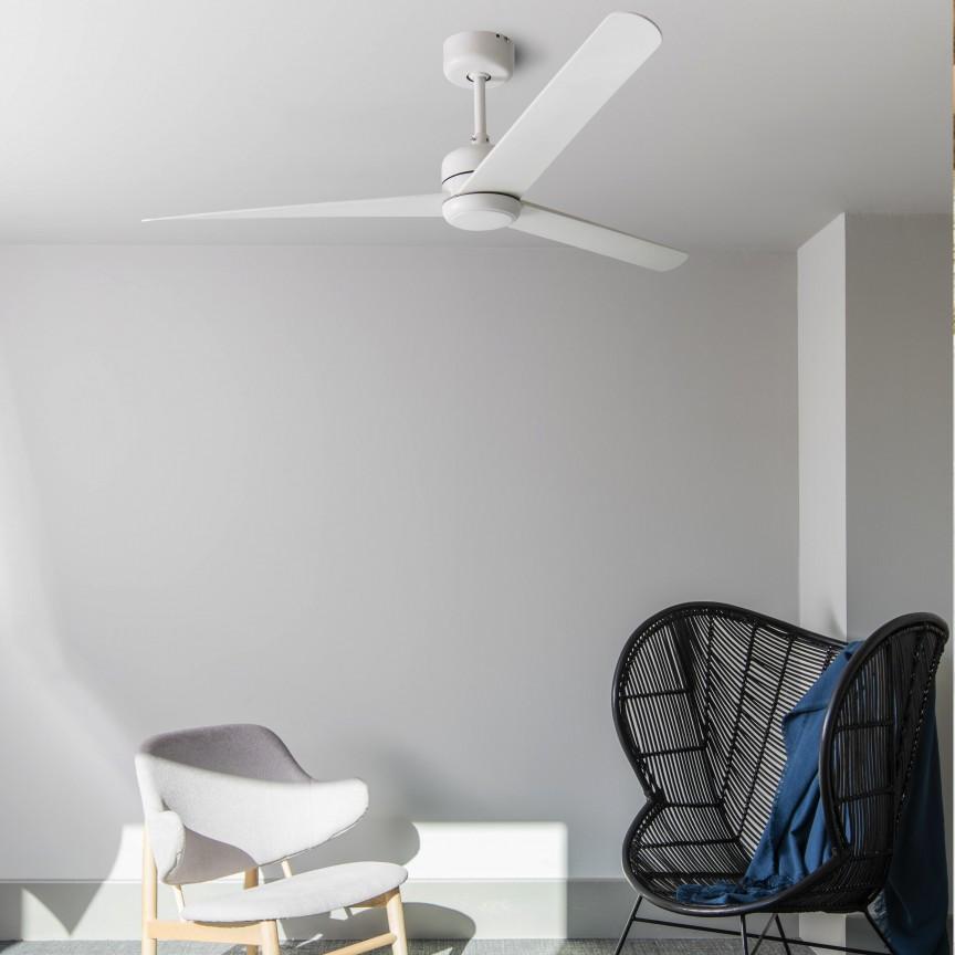 Ventilator de tavan cu telecomanda design modern NUU alb , Lustre cu ventilator de tavan⭐ modele moderne de ventilatoare cu iluminat LED (lumina) si telecomanda.✅Sisteme de ventilatie profesionale pt ventilare casa sau birou.❤️Promotii candelabre cu ventilator❗ ➽www.evalight.ro. Alege oferte la corpuri de iluminat cu ventilator de plafon sau de perete pentru camera: living, baie, bucatarie, dormitor, ieftine sau de lux, calitate premium la cel mai bun pret! a