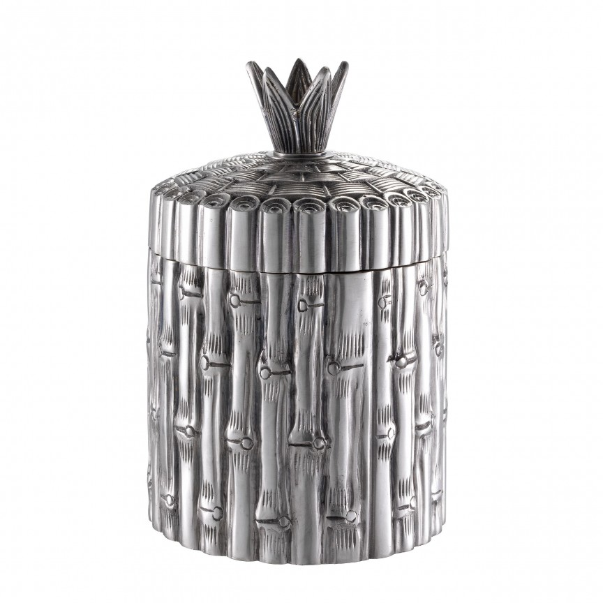 Bol/ Obiect decorativ LUX Bamboo, argintiu 113063 HZ, Parfumuri de camera- Idei cadouri- Obiecte decorative,  a
