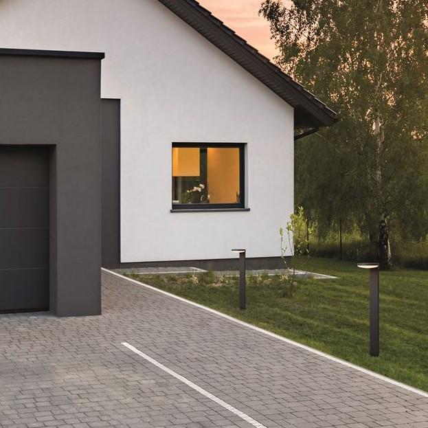 Stalp LED modern pentru iluminat exterior IP54 ENZI H-80cm, Stalpi de iluminat exterior mici si medii , ⭐modele ornamentale cu stil decorativ clasic, rustic, traditional, modern potrivit pentru iluminare gradina, terasa, parc.✅Design premium actual Top 2020!❤️Promotii stalpi de tip felinare exterior❗ ➽ www.evalight.ro. Alege oferte la corpuri de iluminat exterior arhitectural pt zone rezidentiale casa si stradal, rezistenti la apa, (solari cu panou solar, senzori de miscare, becuri economice si lampi LED), din metal antichizat, fier forjat, stil vintage, industrial, ieftini si de lux, calitate deosebita la cel mai bun pret. a