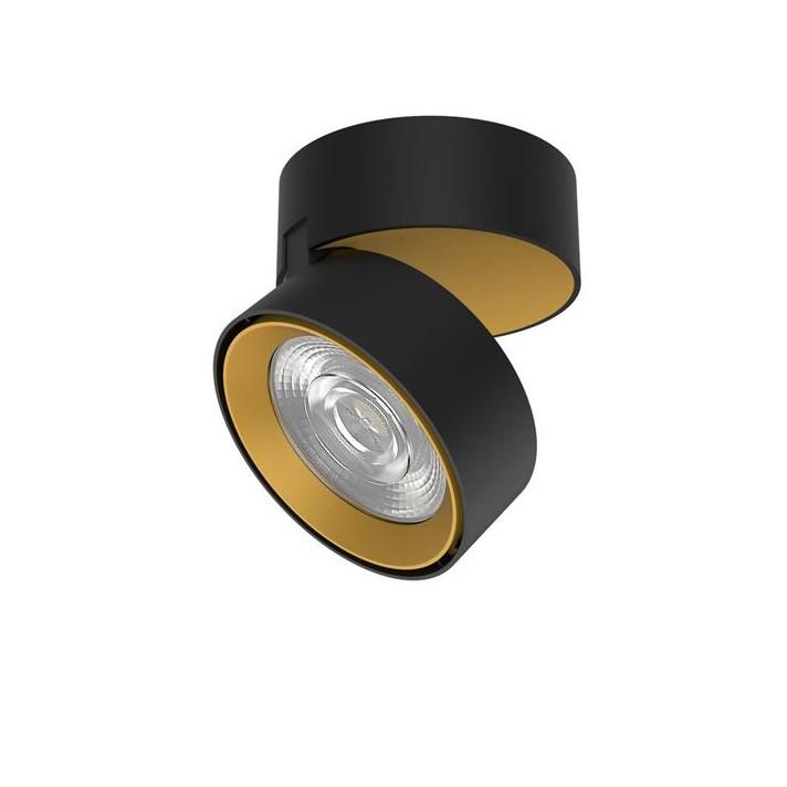 Spot LED aplicat ajustabil perete/tavan UNIVERSAL negru/auriu, Spoturi LED incastrabile / aplicate, tavan / perete⭐ modele moderne potrivite pentru baie, mobilier bucătărie, hol, living si dormitor.✅ Design actual 2020!❤️Promotii lampi LED❗ ➽ www.evalight.ro. Alege oferte la corpuri de iluminat interior cu LED de tip incastrat cu montare in tavanul fals rigips, (rotunde si patrate), becuri cu leduri, ieftine si de lux, calitate deosebita la cel mai bun pret. a