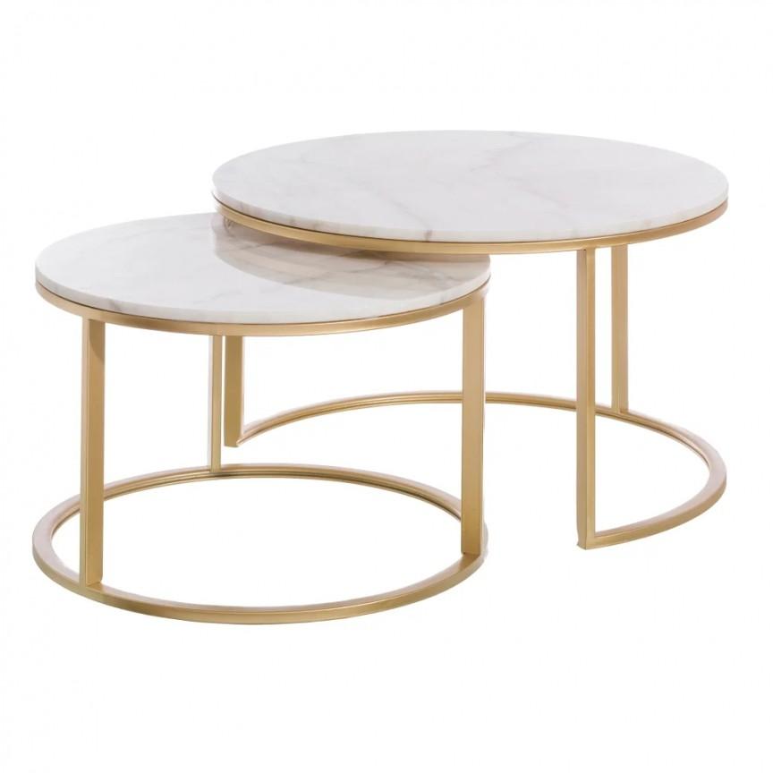 Set 2 masute de cafea design elegant Sherley, auriu SX- 153041, Cele mai noi produse 2020 a
