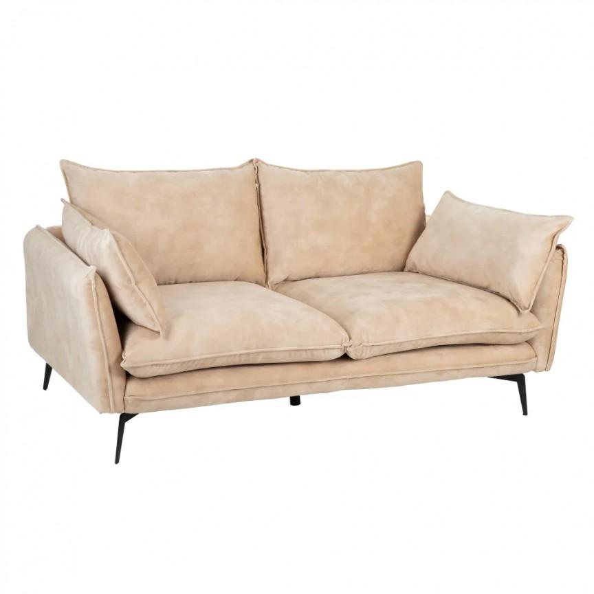 Canapea fixa 2 locuri design modern Alyson, tesatura bej SX-152611, Cele mai noi produse 2020 a