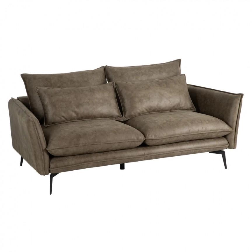 Canapea fixa 2 locuri design modern Alyson, tesatura verde SX-152778, Cele mai noi produse 2020 a