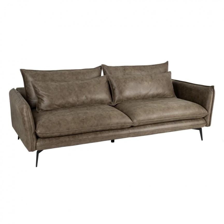 Canapea fixa 3 locuri design modern Alyson, tesatura verde SX-152779, Cele mai noi produse 2020 a