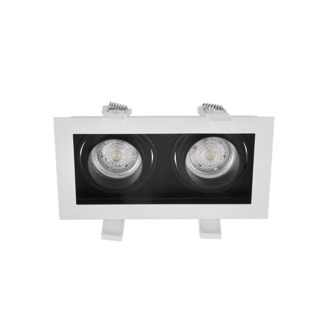 Spot dublu incastrabil tavan fals / plafon CEDI alb, Spoturi incastrate / aplicate / spatii comerciale, pentru tavan si perete⭐solutii de corpuri iluminat LED profesionale✅ modele de lampi moderne si economice potrivite pentru iluminat interior si exterior! ❤️Promotii la Spoturi LED incastrate / aplicate❗ ➽ www.evalight.ro.✅Design premium actual Top 2020! Alege solutii tehnice adecvate cu tip de montaj in tavan (incastrabile) sau aplicate pe perete (aparente), destinate in special pentru corpuri de iluminat cu concept HoReCa: hoteluri, restaurante si cafenele. Colectie de ambiente pentru inspiratie in alegerea surselor de iluminat arhitectural si decorativ, sisteme electrice cu linii de spoturi LED, proiectoare si reflectoare cu flux luminos directionabil (reglabile), pt fiecare proiect de iluminat: solutia tehnica ideala pentru iluminatul de detaliu sau de efect al magazinelor specializate, spatii comerciale, cladiri office de birouri, cu garantie si de calitate superioara la cel mai bun pret❗ a