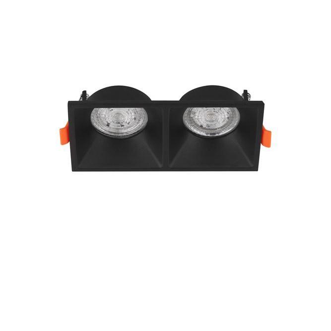 Spot dublu incastrabil tavan fals / plafon STAF negru, Cele mai noi produse 2020 a