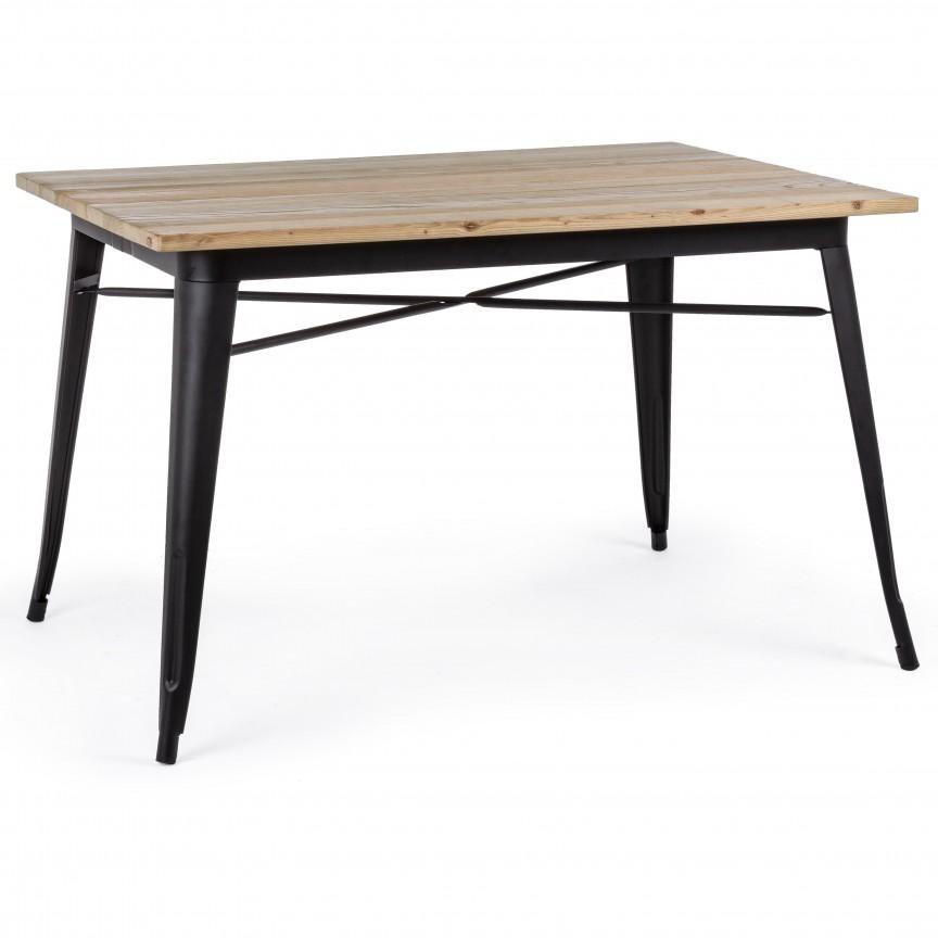 Masa cu design nordic industrial MINNESOTA 80x120 negru 0732959 BZ, Cele mai noi produse 2020 a