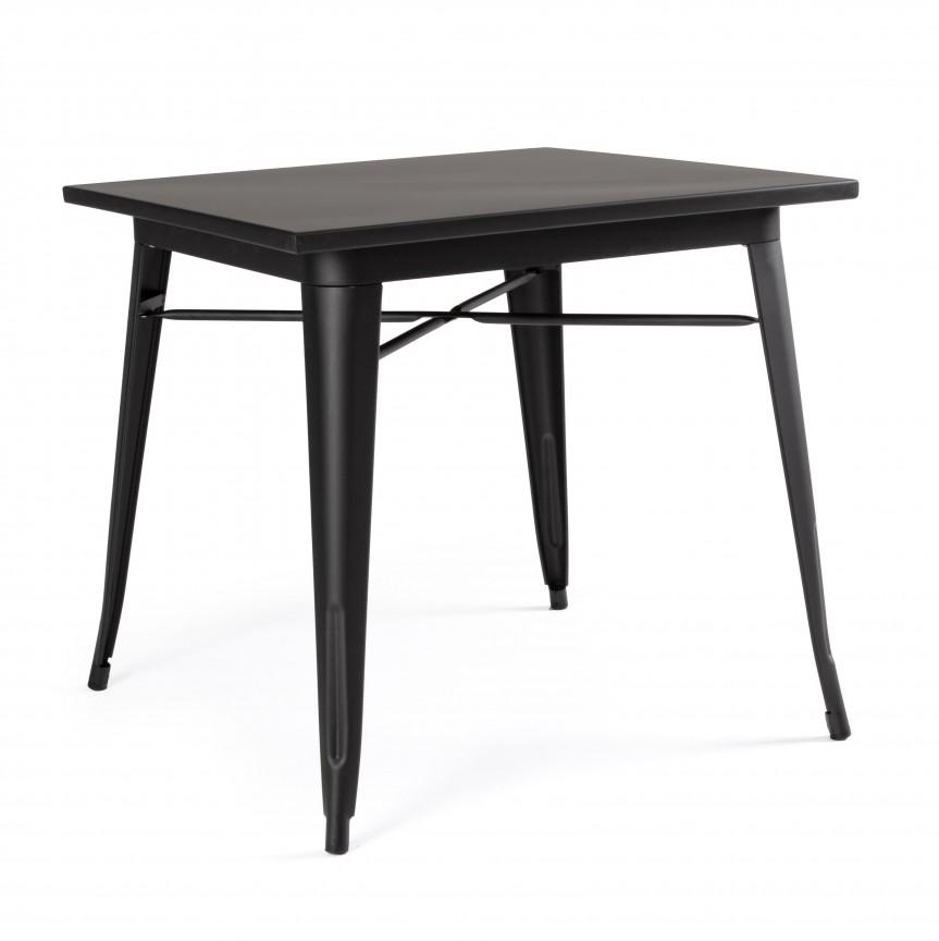 Masa cu design nordic industrial MINNESOTA 80x80 negru 0732955 BZ, Cele mai noi produse 2020 a