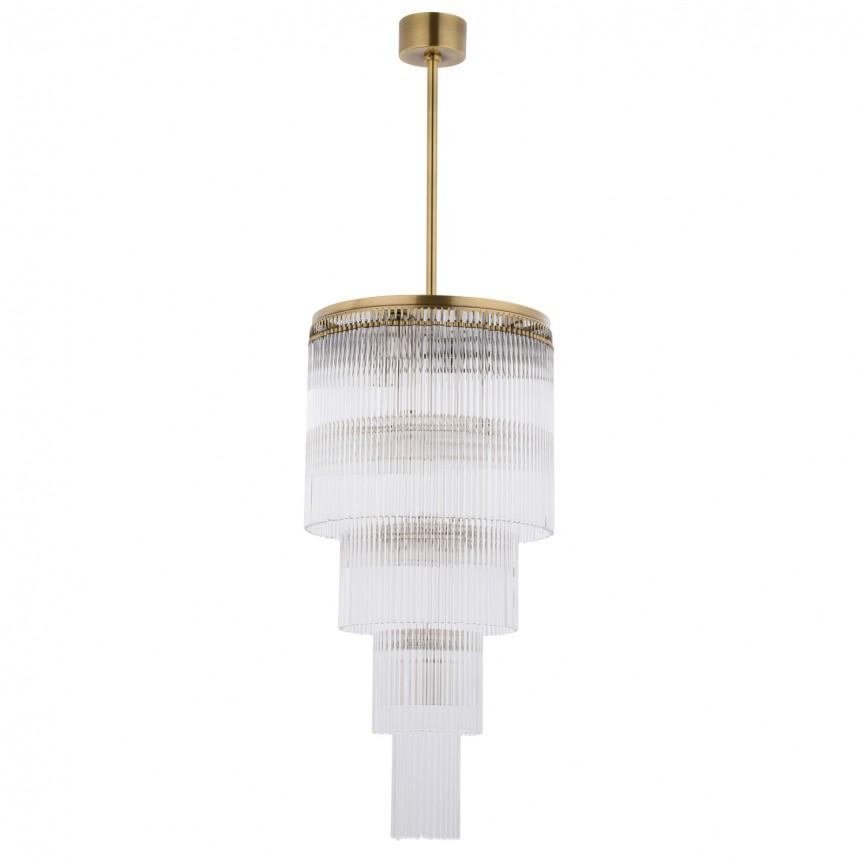 Lustra design LUX diametru 35cm din alama decorata cu sticla Filago, Cele mai noi produse 2020 a