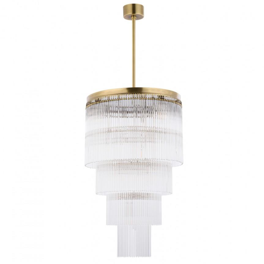 Lustra design LUX diametru 45cm din alama decorata cu sticla Filago, Cele mai noi produse 2020 a