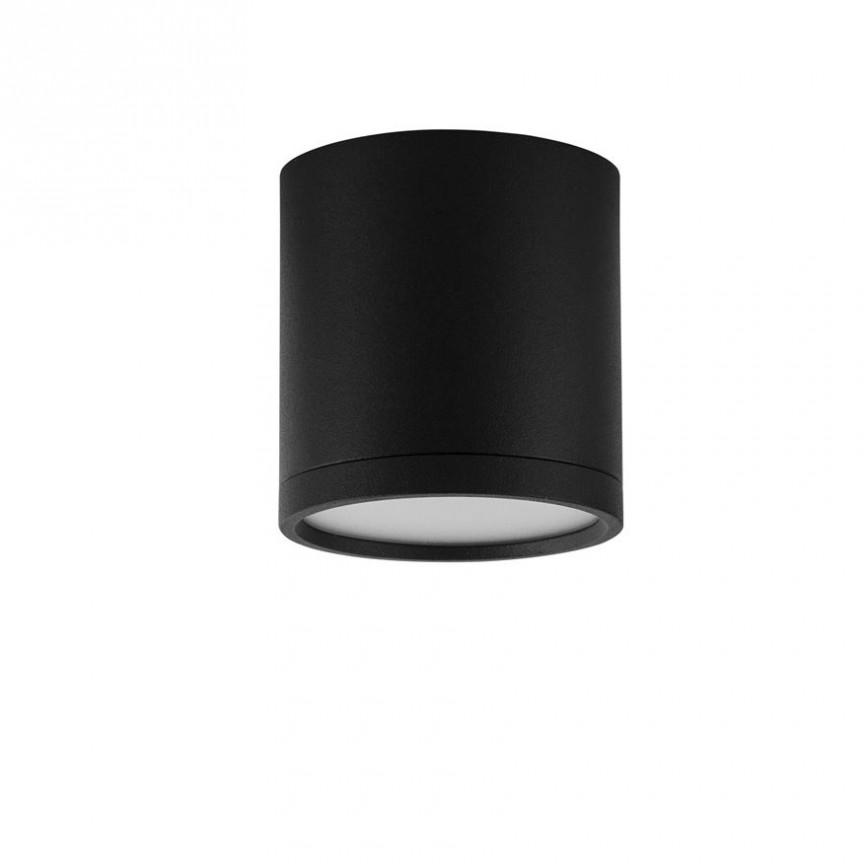 Spot LED aplicat tavan / plafon design modern minimalist GARF negru, Spoturi LED incastrabile / aplicate, tavan / perete⭐ modele moderne potrivite pentru baie, mobilier bucătărie, hol, living si dormitor.✅ Design actual 2020!❤️Promotii lampi LED❗ ➽ www.evalight.ro. Alege oferte la corpuri de iluminat interior cu LED de tip incastrat cu montare in tavanul fals rigips, (rotunde si patrate), becuri cu leduri, ieftine si de lux, calitate deosebita la cel mai bun pret. a
