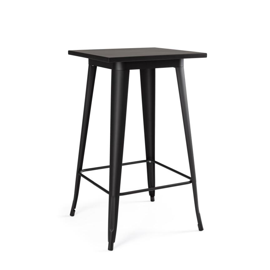 Masa de bar cu design nordic industrial MINNESOTA negru 0732950 BZ, Cele mai noi produse 2020 a