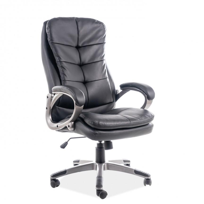 Scaun de birou cu design ergonomic Q-270 piele sintetica neagra, Scaune de birou ergonomice⭐modele moderne directoriale,rotative pentru birou copii,reglabile de gaming.❤️Promotii scaune de birou❗ Intra si vezi ➽ www.evalight.ro. ➽ sursa ta de inspiratie online❗ ✅Design de lux original premium actual Top 2020❗ Alege cel mai bun scaun potrivit pt birou office, calculator, rezistente si confortabile, tapitate cu catifea, piele naturala (ecologica), din material textil (stofa) pivotante, rabatabile, cu spatar reglabil, cu roti cauciuc (silicon), intra ➽vezi oferte si reduceri cu vanzare rapida din stoc, ieftine si de calitate deosebita la cel mai bun pret. a