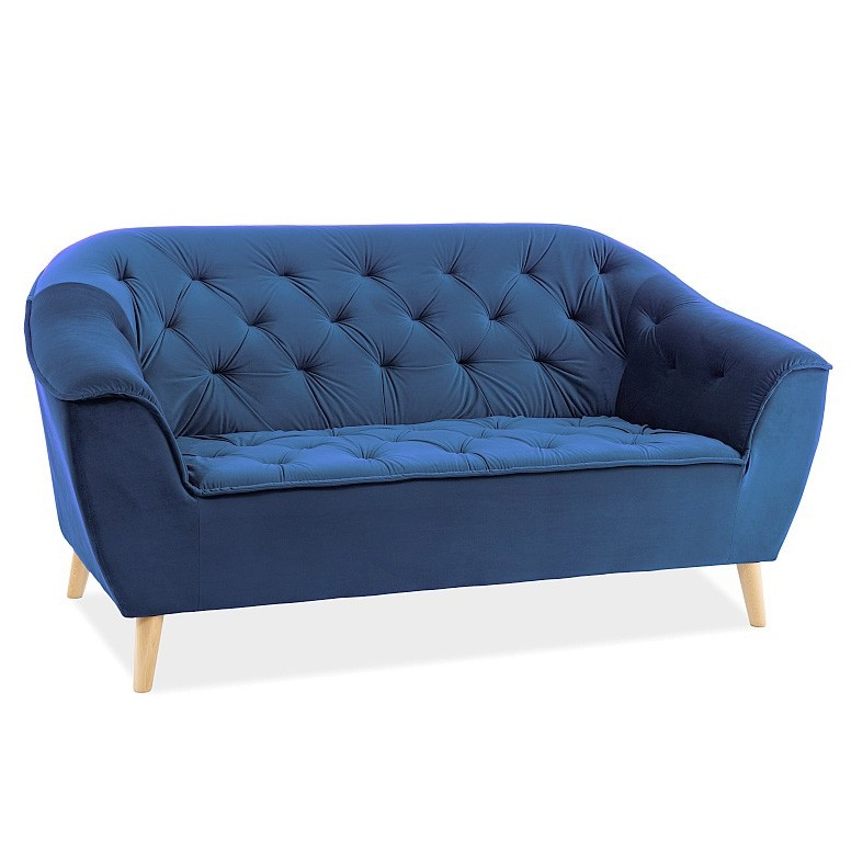 Canapea fixa eleganta GALAXY catifea albastra, Cele mai noi produse 2020 a