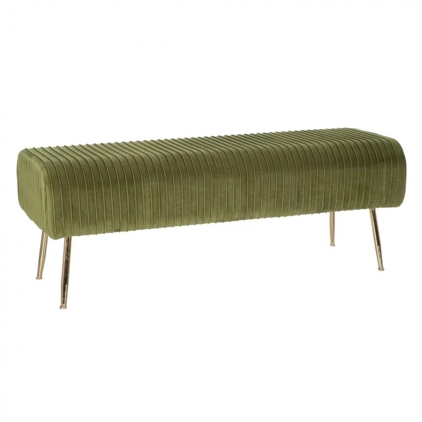 Bancheta design elegant Alana, verde-auriu SX-154175, Tabureti - Banci,  a