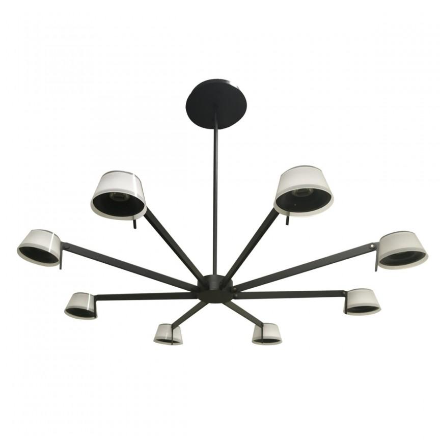 Lustra cu 8 spoturi LED Hamburg 605014308 MW, Lustre / Lampi LED cu telecomanda, ⭐ modele moderne potrivite pentru dormitor, living.✅ Design premium actual Top 2020! ❤️Promotii lampi❗ ➽ www.evalight.ro. Alege oferte la corpuri de iluminat cu LED si telecomanda, dimabile (intensitate reglabila), 3 functii, (becuri cu leduri si module LED integrate cu lumina calda, naturala sau rece), ieftine si de lux, calitate deosebita la cel mai bun pret. a