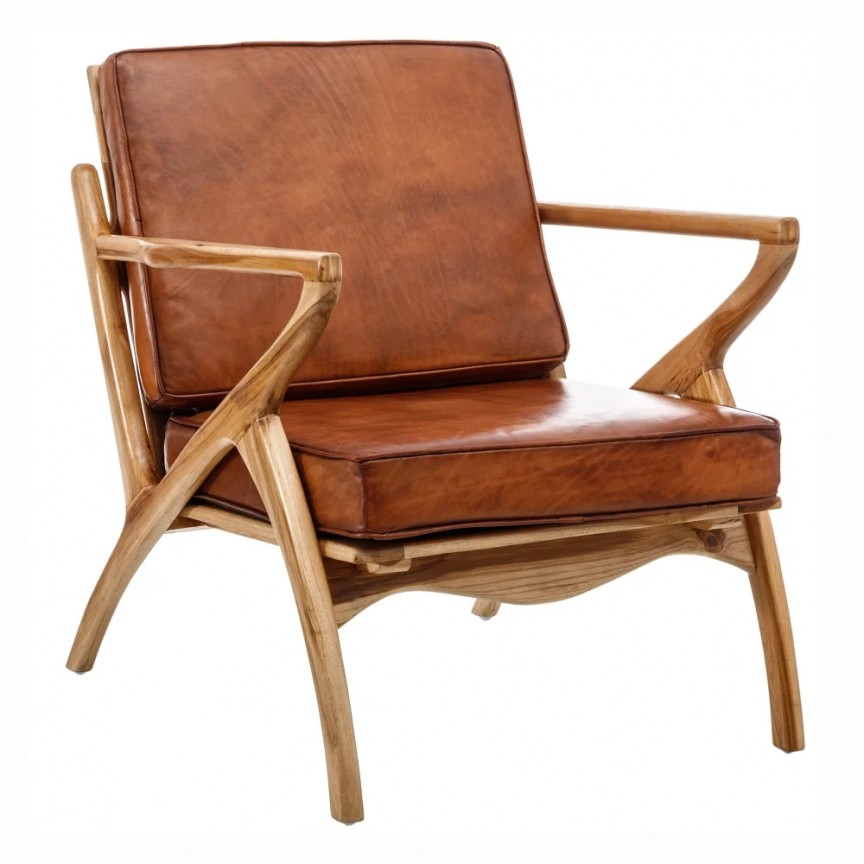 Fotoliu din lemn de tec design vintage Bennie DZ-151167, Fotolii - Fotolii extensibile,  a