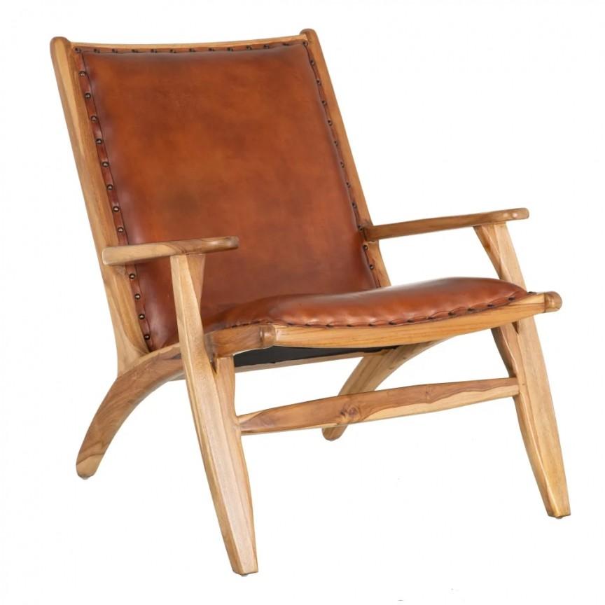 Fotoliu din lemn de tec design vintage Hank DZ-154358, Fotolii - Fotolii extensibile,  a