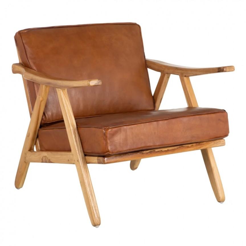 Fotoliu din lemn de tec design vintage Lester DZ-154359, Fotolii - Fotolii extensibile,  a