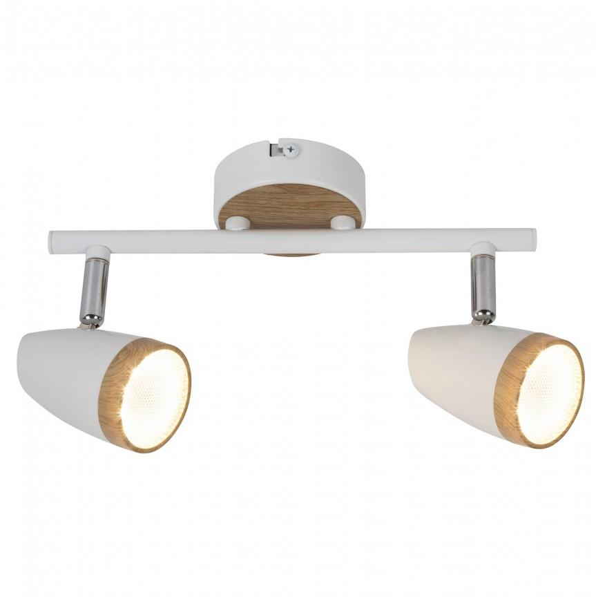 Aplica perete sau tavan cu 2 spoturi LED Karen 5565 RX, Aplice aplicate perete sau tavan cu spoturi, LED⭐ modele moderne corpuri de iluminat tip spoturi pe bara.✅Design decorativ 2021!❤️Promotii lampi❗ ➽ www.evalight.ro. Alege oferte aplice de iluminat interior, lustre si plafoniere cu 2 spoturi cu lumina LED si directie reglabila, spot orientabil cu intrerupator, simple si ieftine de calitate la cel mai bun pret. a
