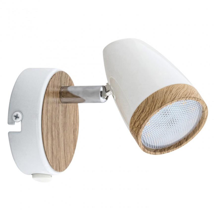 Aplica perete cu spot LED Karen 5564 RX, Plafoniere LED / Spoturi LED , moderne⭐ modele potrivite pentru dormitor, living, bucatarie, baie, hol.✅Design premium actual Top 2020!❤️Promotii lampi❗ ➽ www.evalight.ro. Alege oferte la corpuri de iluminat cu LED interior pt tavan sau perete (rotunde si patrate), office si birou, (becuri cu leduri si module LED integrate cu lumina calda, naturala sau rece), ieftine si de lux, calitate deosebita la cel mai bun pret.  a