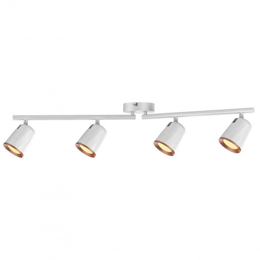 Lustra aplicata cu 4 spoturi LED Solange 5048 RX, Plafoniere LED / Spoturi LED , moderne⭐ modele potrivite pentru dormitor, living, bucatarie, baie, hol.✅Design premium actual Top 2020!❤️Promotii lampi❗ ➽ www.evalight.ro. Alege oferte la corpuri de iluminat cu LED interior pt tavan sau perete (rotunde si patrate), office si birou, (becuri cu leduri si module LED integrate cu lumina calda, naturala sau rece), ieftine si de lux, calitate deosebita la cel mai bun pret.  a