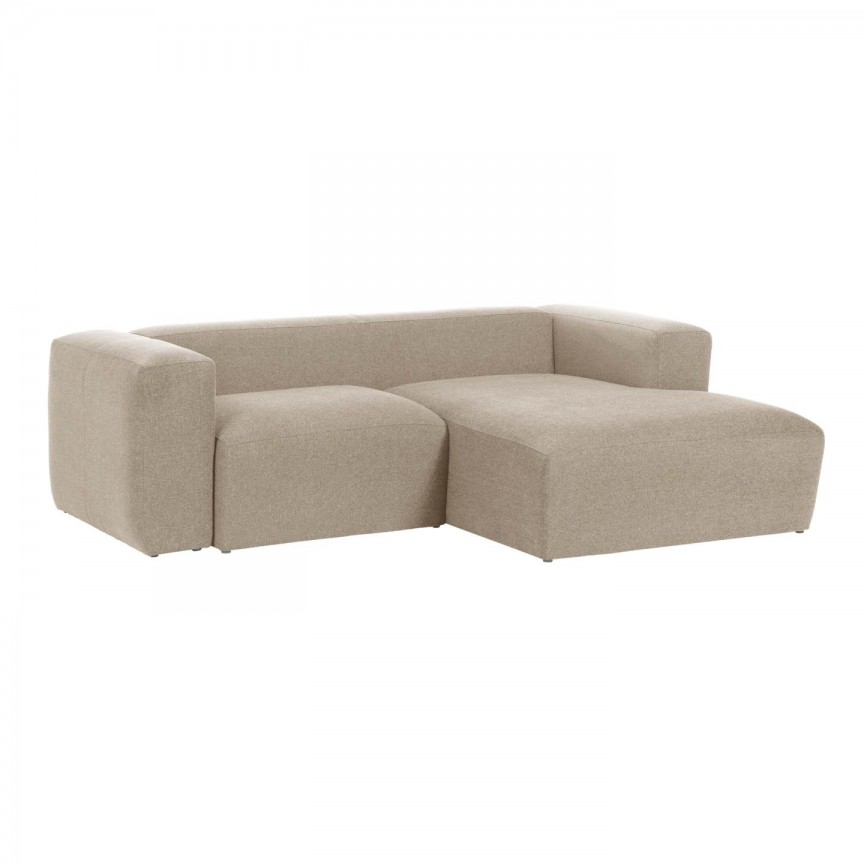 Canapea 2 locuri cu sezlong dreapta 240cm Blok bej S574GR39 JG, Canapele - Coltare,  a