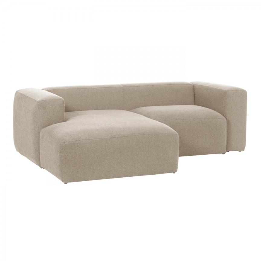 Canapea 2 locuri cu sezlong stanga 240cm Blok bej S575GR39 JG, Canapele - Coltare,  a