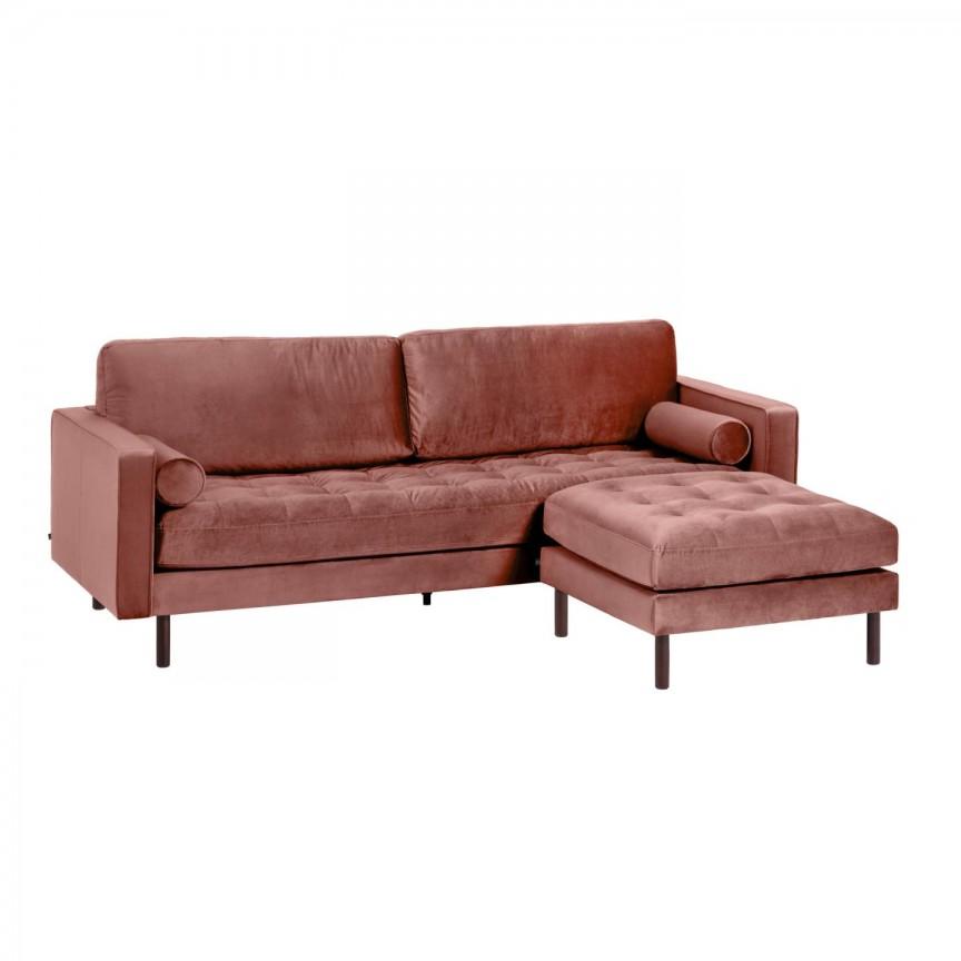 Canapea fixa 3 locuri si taburete inclus BOGART catifea roz S664JU24 JG, Mobila si Decoratiuni , interioare moderne de lux⭐ piese de mobilier modern cu stil exclusivist pentru casa✅ colectii dormitor si living.❤️Promotii la mobila si decoratiuni❗ Intra si vezi modele ✚ poze ✚ pret ➽ www.evalight.ro. ➽ sursa ta de inspiratie online❗ Idei si tendinte de design actual pentru amenajari premium Top 2020❗ Mobila moderna unicat cu stil elegant contemporan ultra-modern, accesorii si oglinzi decorative de perete potrivite pentru interior si exterior. Cele mai noi si apreciate stiluri la mobila si mobilier cu design original: stil industrial style, retro, vintage (boem, veche, reconditionata, realizata manual (noua nu second hand), handmade, sculptata, scandinav (nordic), clasic (baroc, glamour, romantic, art deco, boho, shabby chic, feng shui), rustic (traditional), urban minimalist. Alege cele mai frumoase si rafinate articole si obiecte decorative deosebite, textile si tesaturi scumpe, vezi seturi de mobilier modular pe colt pt spatii mici si mari, cu picioare din metal combinat cu lemn masiv, placata cu oglinda si sticla, MDF lucios de culoare alba, . ✅Amenajari interioare 2020❗ | Living | Dormitor | Hol | Baie | Bucatarie | Sufragerie | Camera de zi / Tineret / Copii | Birou | Balcon | Terasa | Gradina | Cumpara la comanda sau din stoc, oferte si reduceri speciale cu vanzare rapida din magazine la cele mai bune preturi. Te aşteptăm sa admiri calitatea superioara a produselor noastre live în showroom-urile noastre din Bucuresti si Timisoara❗  a