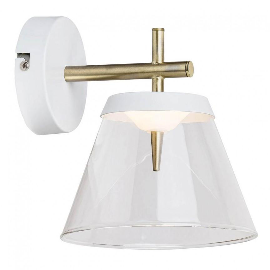 Aplica LED din metal finisaj bronz si alb AVIANA 5029 RX, Aplice de perete LED, moderne⭐ modele potrivite pentru dormitor,living,baie,hol,bucatarie.✅Design premium actual Top 2020!❤️Promotii lampi❗ ➽ www.evalight.ro. Alege oferte la corpuri de iluminat cu LED pt tavan interior, (becuri cu leduri si module LED integrate cu lumina calda, naturala sau rece), ieftine si de lux, calitate deosebita la cel mai bun pret.  a
