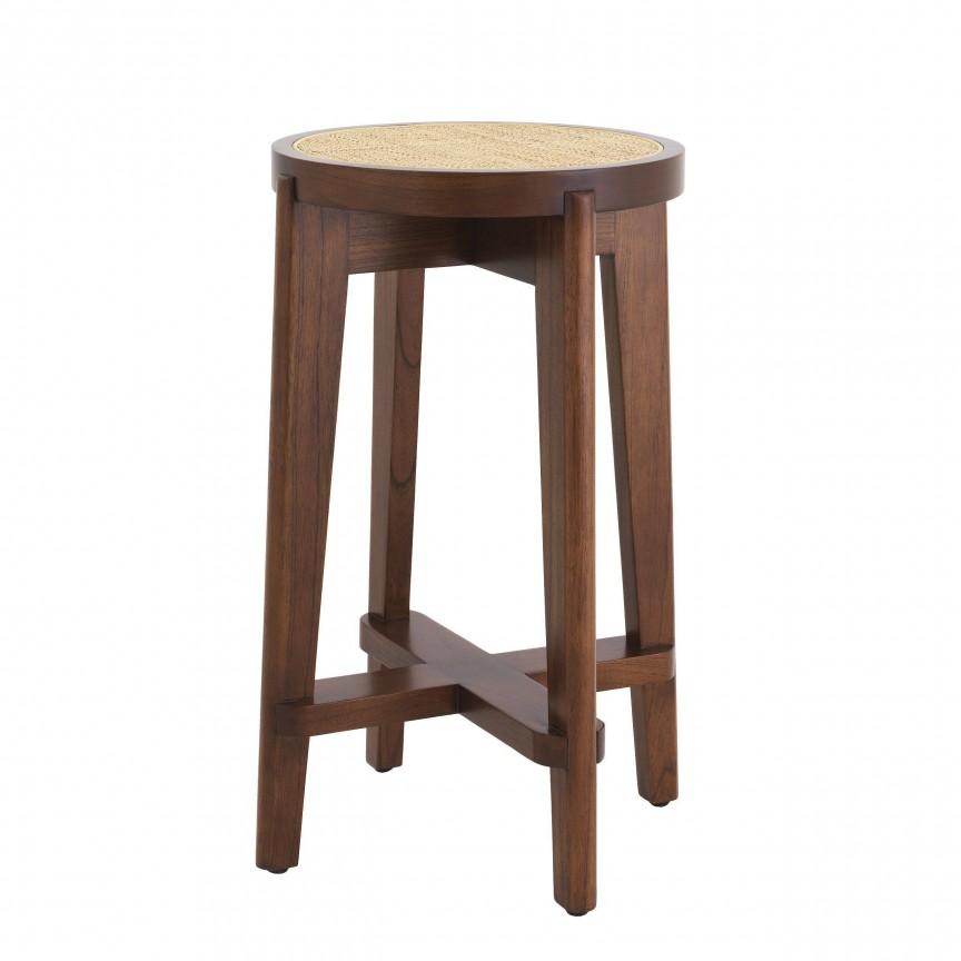 Scaun de bar din lemn finisaj maro design modern Dareau, H-67cm 114181 HZ, Scaune de bar,  a