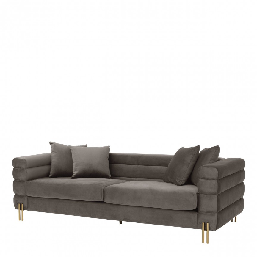 Canapea eleganta design LUX York, catifea gri 114343 HZ, Canapele - Coltare,  a