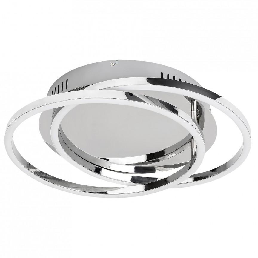 Lustra aplicata LED metal cromat Selena 37cm 2184 RX, Plafoniere LED / Spoturi LED , moderne⭐ modele potrivite pentru dormitor, living, bucatarie, baie, hol.✅Design premium actual Top 2020!❤️Promotii lampi❗ ➽ www.evalight.ro. Alege oferte la corpuri de iluminat cu LED interior pt tavan sau perete (rotunde si patrate), office si birou, (becuri cu leduri si module LED integrate cu lumina calda, naturala sau rece), ieftine si de lux, calitate deosebita la cel mai bun pret.  a