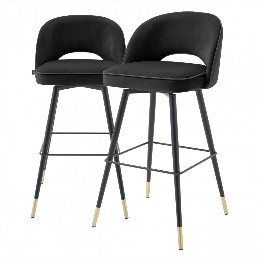Set de 2 scaune de bar design modern Cliff, negru 114574 HZ, Mobila si Decoratiuni , interioare moderne de lux⭐ piese de mobilier modern cu stil exclusivist pentru casa✅ colectii dormitor si living.❤️Promotii la mobila si decoratiuni❗ Intra si vezi modele ✚ poze ✚ pret ➽ www.evalight.ro. ➽ sursa ta de inspiratie online❗ Idei si tendinte de design actual pentru amenajari premium Top 2020❗ Mobila moderna unicat cu stil elegant contemporan ultra-modern, accesorii si oglinzi decorative de perete potrivite pentru interior si exterior. Cele mai noi si apreciate stiluri la mobila si mobilier cu design original: stil industrial style, retro, vintage (boem, veche, reconditionata, realizata manual (noua nu second hand), handmade, sculptata, scandinav (nordic), clasic (baroc, glamour, romantic, art deco, boho, shabby chic, feng shui), rustic (traditional), urban minimalist. Alege cele mai frumoase si rafinate articole si obiecte decorative deosebite, textile si tesaturi scumpe, vezi seturi de mobilier modular pe colt pt spatii mici si mari, cu picioare din metal combinat cu lemn masiv, placata cu oglinda si sticla, MDF lucios de culoare alba, . ✅Amenajari interioare 2020❗   Living   Dormitor   Hol   Baie   Bucatarie   Sufragerie   Camera de zi / Tineret / Copii   Birou   Balcon   Terasa   Gradina   Cumpara la comanda sau din stoc, oferte si reduceri speciale cu vanzare rapida din magazine la cele mai bune preturi. Te aşteptăm sa admiri calitatea superioara a produselor noastre live în showroom-urile noastre din Bucuresti si Timisoara❗  a