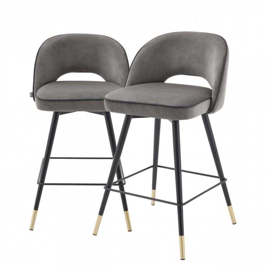 Set de 2 scaune de bar design modern Cliff, H-92,5cm gri 114324 HZ, Mobila si Decoratiuni , interioare moderne de lux⭐ piese de mobilier modern cu stil exclusivist pentru casa✅ colectii dormitor si living.❤️Promotii la mobila si decoratiuni❗ Intra si vezi modele ✚ poze ✚ pret ➽ www.evalight.ro. ➽ sursa ta de inspiratie online❗ Idei si tendinte de design actual pentru amenajari premium Top 2020❗ Mobila moderna unicat cu stil elegant contemporan ultra-modern, accesorii si oglinzi decorative de perete potrivite pentru interior si exterior. Cele mai noi si apreciate stiluri la mobila si mobilier cu design original: stil industrial style, retro, vintage (boem, veche, reconditionata, realizata manual (noua nu second hand), handmade, sculptata, scandinav (nordic), clasic (baroc, glamour, romantic, art deco, boho, shabby chic, feng shui), rustic (traditional), urban minimalist. Alege cele mai frumoase si rafinate articole si obiecte decorative deosebite, textile si tesaturi scumpe, vezi seturi de mobilier modular pe colt pt spatii mici si mari, cu picioare din metal combinat cu lemn masiv, placata cu oglinda si sticla, MDF lucios de culoare alba, . ✅Amenajari interioare 2020❗   Living   Dormitor   Hol   Baie   Bucatarie   Sufragerie   Camera de zi / Tineret / Copii   Birou   Balcon   Terasa   Gradina   Cumpara la comanda sau din stoc, oferte si reduceri speciale cu vanzare rapida din magazine la cele mai bune preturi. Te aşteptăm sa admiri calitatea superioara a produselor noastre live în showroom-urile noastre din Bucuresti si Timisoara❗  a