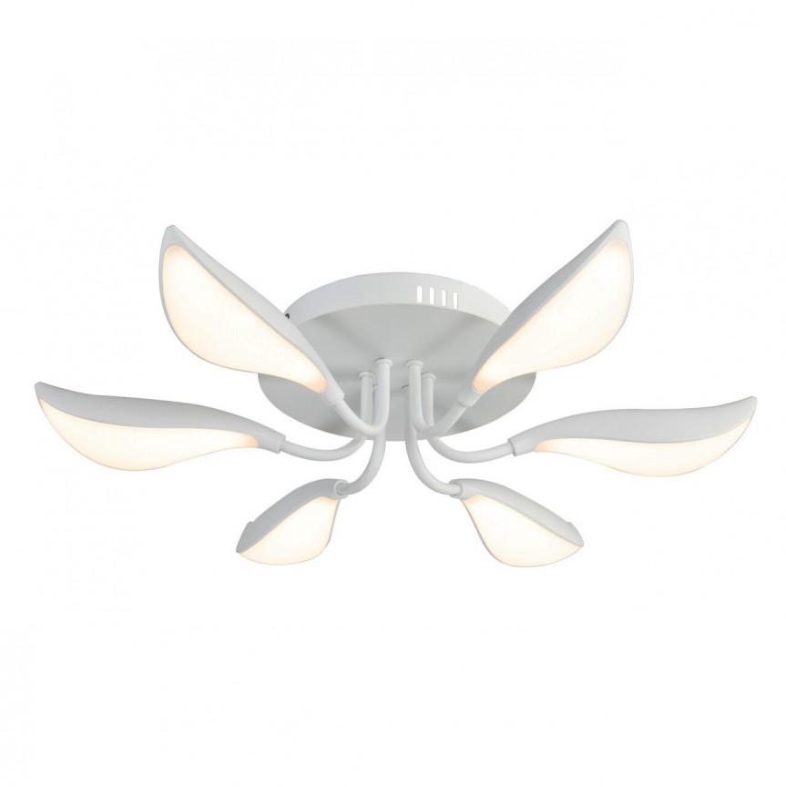 Lustra aplicata alba cu iluminat LED Magnolia 6000 RX, Plafoniere LED / Spoturi LED , moderne⭐ modele potrivite pentru dormitor, living, bucatarie, baie, hol.✅Design premium actual Top 2020!❤️Promotii lampi❗ ➽ www.evalight.ro. Alege oferte la corpuri de iluminat cu LED interior pt tavan sau perete (rotunde si patrate), office si birou, (becuri cu leduri si module LED integrate cu lumina calda, naturala sau rece), ieftine si de lux, calitate deosebita la cel mai bun pret.  a