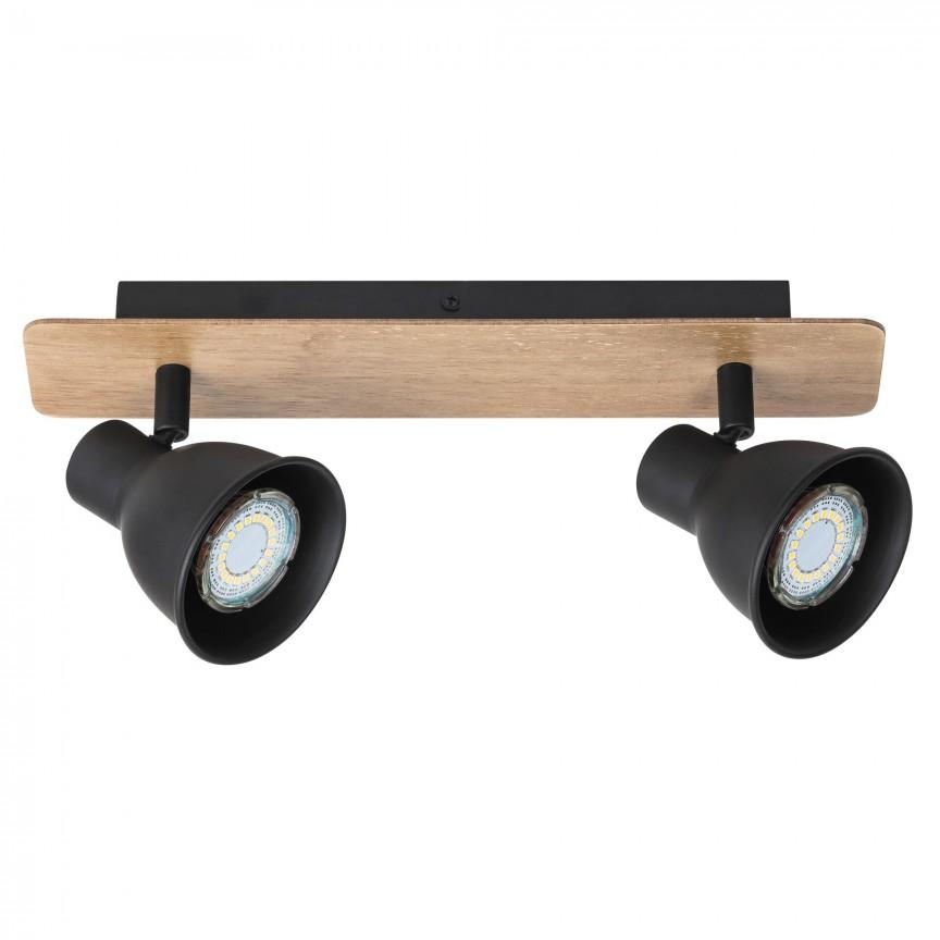 Aplica 2 spoturi design industrial metalica MAC negru 5903 RX , Aplice aplicate perete sau tavan cu spoturi, LED⭐ modele moderne corpuri de iluminat tip spoturi pe bara.✅Design decorativ 2021!❤️Promotii lampi❗ ➽ www.evalight.ro. Alege oferte aplice de iluminat interior, lustre si plafoniere cu 2 spoturi cu lumina LED si directie reglabila, spot orientabil cu intrerupator, simple si ieftine de calitate la cel mai bun pret. a
